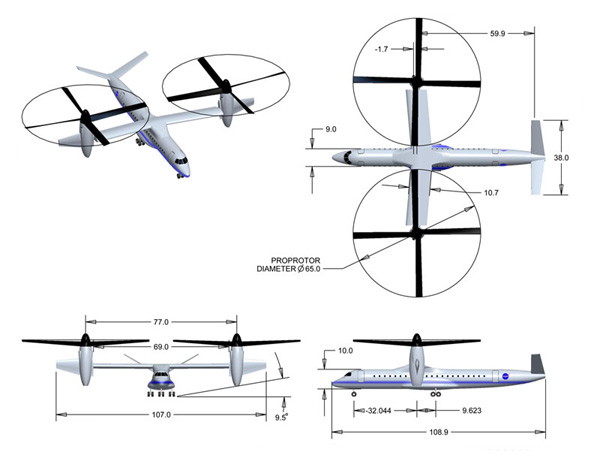 Multi-view image of the LCTR with dimensions