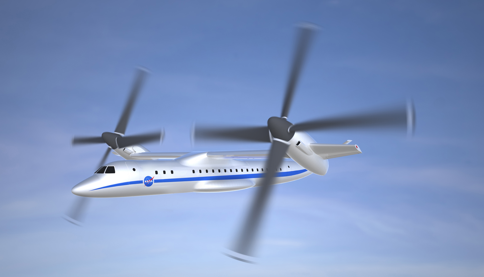 Large Civil Tilt Rotor First Flight, Circa 2023